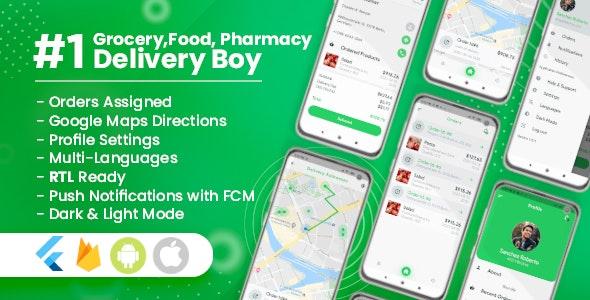 Delivery Boy for Groceries, Foods, Pharmacies, Stores Flutter App v1.0.1