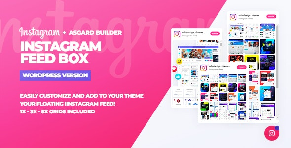Instagram Feed Box WordPress Plugin - CodeCanyon Item for Sale