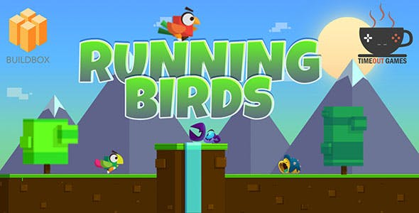 Running Birds (IOS) - Full Buildbox Game