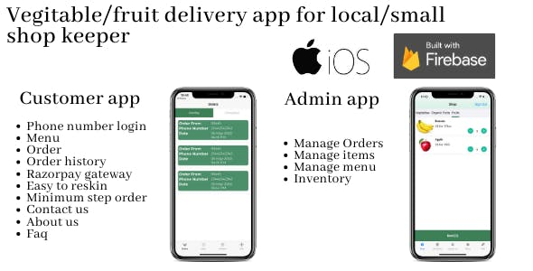 Vegitable/Fruit delivery app for small and local shopkeeper