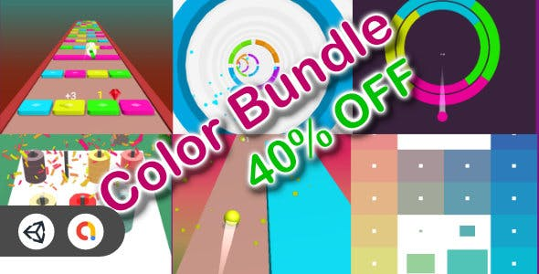 Color Game Bundle - 6 Games (40% OFF +Unity Game+Admob+iOS+Android)