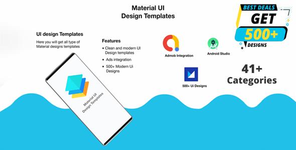 Material Design UI Templates | Material Design UI Components App - CodeCanyon Item for Sale