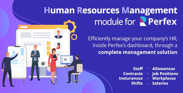 Human Resources Management - HR module for Perfex CRM - CodeCanyon Item for Sale
