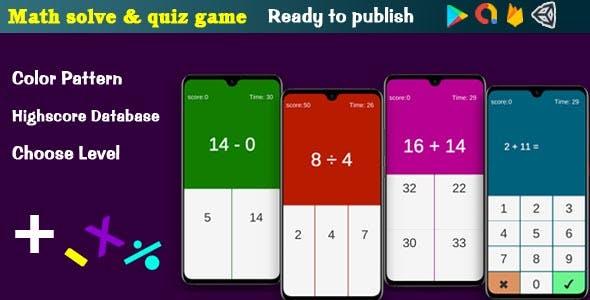 Maths Practice Quiz Game - Admob | Unity