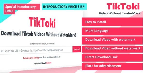 TikToki - TikTok Video Downloader - CodeCanyon Item for Sale