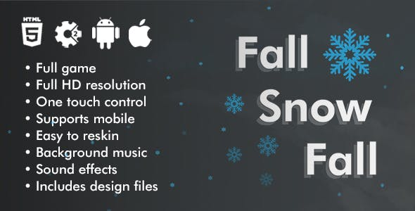 Fall Snow Fall - HTML5 Game Construct 2