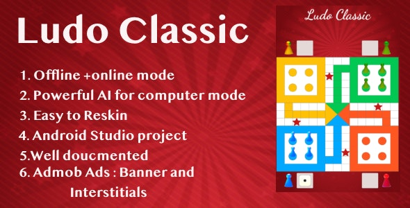 Ludo Classic!Ludo Game- Admob + Android Studio - CodeCanyon Item for Sale
