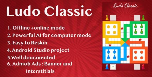 Ludo Classic !Ludo Game- Admob Ads + Android Studio