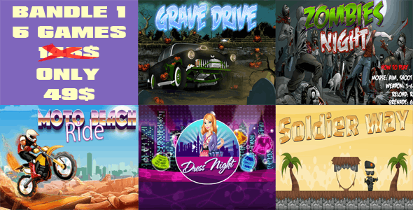 5 games - Bundle 1 - CodeCanyon Item for Sale
