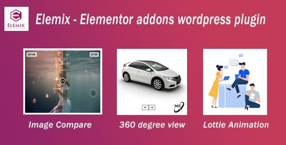 Elemix - Elementor addons wordpress plugin