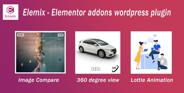 Elemix - Elementor widgets addon wordpress plugin - CodeCanyon Item for Sale