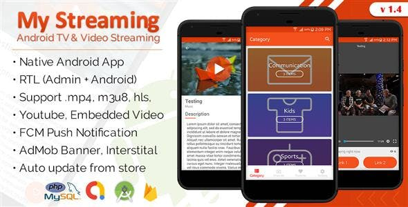 My Streaming Android App with Admin Panel