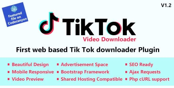 TikTok Video and Music Downloader with no Watermark - CodeCanyon Item for Sale