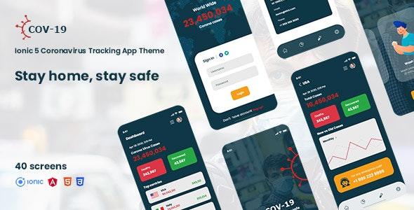 cov-19 Ionic 5 coronavirus tracking app theme - CodeCanyon Item for Sale