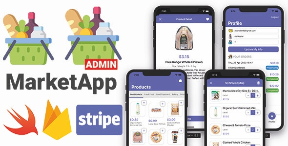 Market App 2.0 with Admin App | Full iOS Application - CodeCanyon Item for Sale