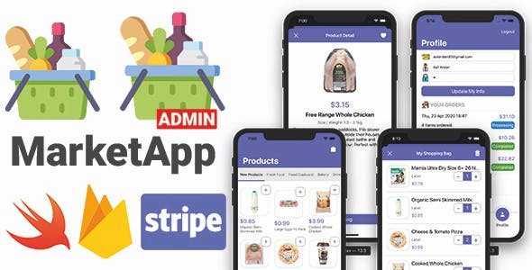 Market App 2.0 with Admin App | Full iOS Application