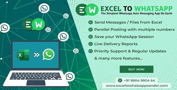Excel TO WhastApp Sender | The Simplest WhastApp Auto Messaging App On Earth