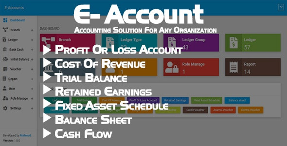 E-Account - Accounting Software for any Organization - CodeCanyon Item for Sale
