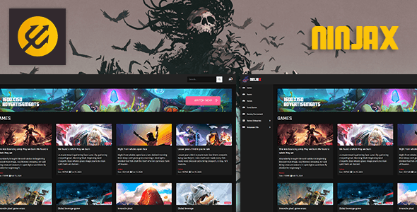 ninjax – Game and Blog / Game Download script Theme - CodeCanyon Item for Sale