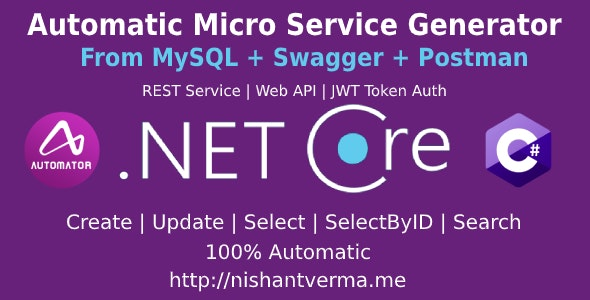 MySQL to Dot Net Core Automatic REST API Generator + JWT Auth + Swagger + Postman - CodeCanyon Item for Sale