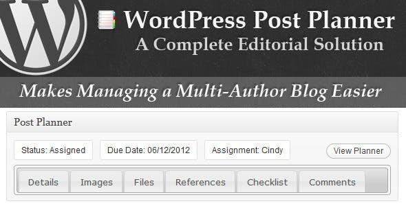 WordPress Post Planner