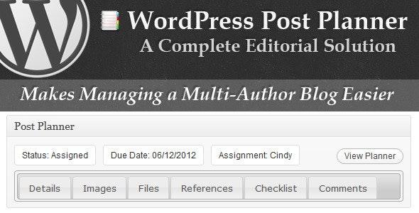 WordPress Post Planner - CodeCanyon Item for Sale
