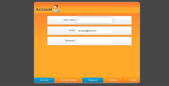 Orange Sliding effect Registration form