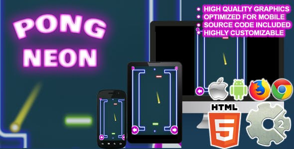 Pong Neon ( HTML5 + CAPX )