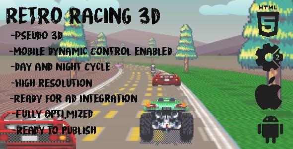 Retro Racing 3d- Construct 2 (capx+html5)
