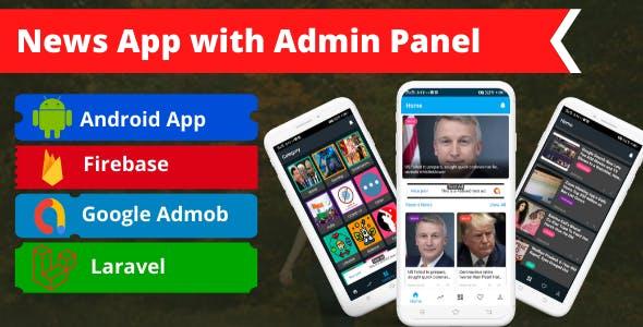 News app with laravel admin panel