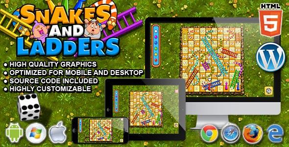 Snakes and Ladders - HTML5 Board Game