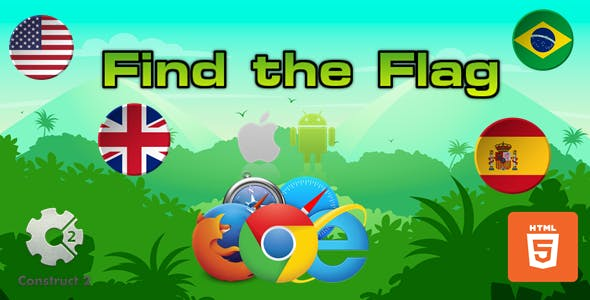 Find The Flag - HTML5 Game (.Capx)