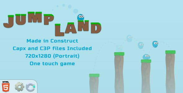 Jump Land - HTML5 Casual game