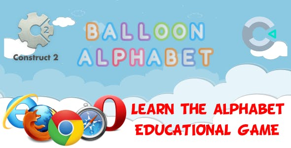 Balloon Alphabet -HTML5 Game (CAPX)