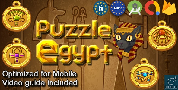 Puzzle Block Pharaoh Egypt (Admob + Android studio) - CodeCanyon Item for Sale