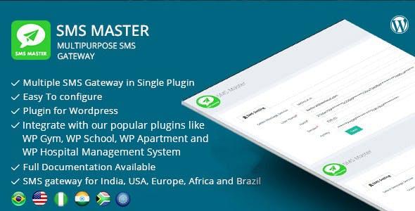 SMSmaster – Multipurpose SMS Gateway for Wordpress
