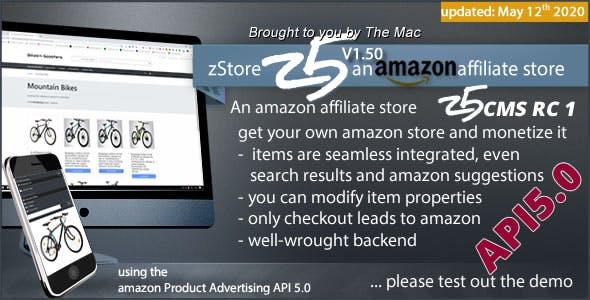 zStore z5 - an amazon affiliate Store - PA API 5.0