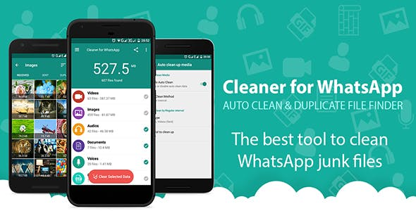 Phone Cleaner for WhatsApp - Android App + Admob Integration