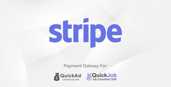 Stripe Payment Plugin For Quickad & Quickjob - CodeCanyon Item for Sale