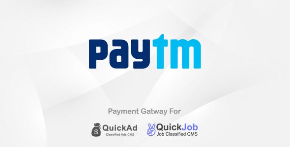 Paytm Payment Plugin For Quickad & QuickJob