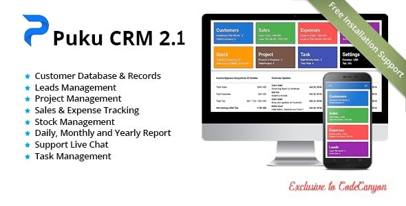 Puku CRM - Realtime Open Source CRM - CodeCanyon Item for Sale