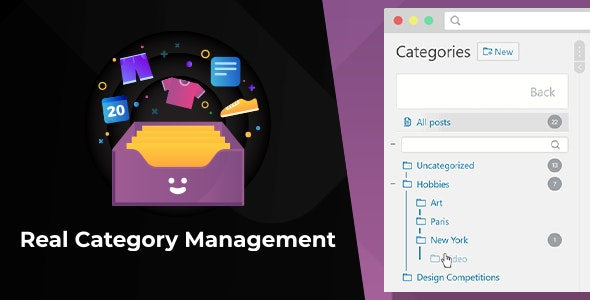WordPress Real Category Management: Content Management in Category Folders with WooCommerce Support - CodeCanyon Item for Sale