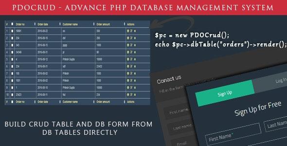 PDO Crud – Advanced PHP CRUD application (Form Builder & Database Management) - CodeCanyon Item for Sale