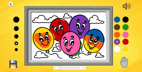 Coloring Book - HTML Educational Game (Construct 3)