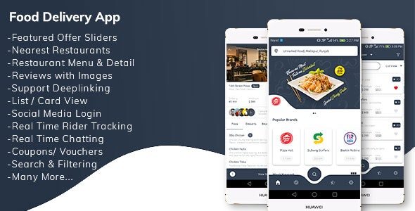 Restaurant Food Delivery App with Delivery Boy - CodeCanyon Item for Sale