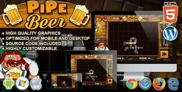 PipeBeer - HTML5 Classic Game