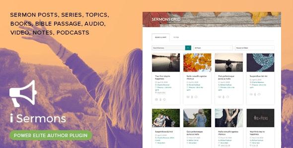 iSermons - WordPress Sermons Manager Plugin - CodeCanyon Item for Sale