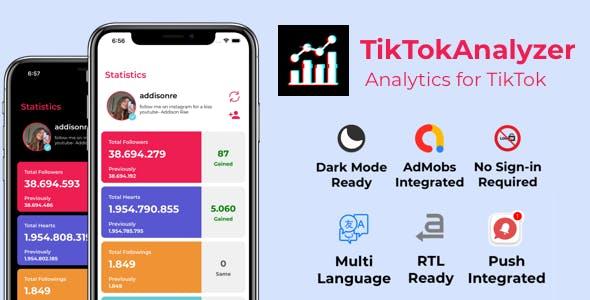 TikTokAnalyzer iOS - TikTok Statistics, Follow - Follower Count, Trends, Discover, Analyzer
