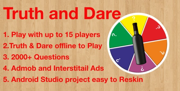 Truth or Dare - Spin the Bottle with Admob - CodeCanyon Item for Sale