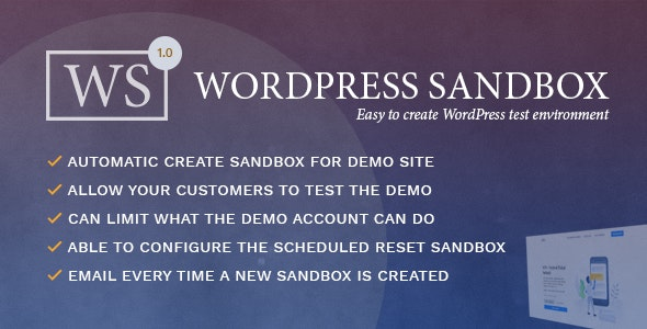 WordPress Sandbox - Easy To Create a Test Environment - CodeCanyon Item for Sale
